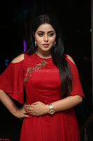 Poorna in Maroon Dress at Rakshasi movie Press meet Cute Pics ~  Exclusive 90.JPG