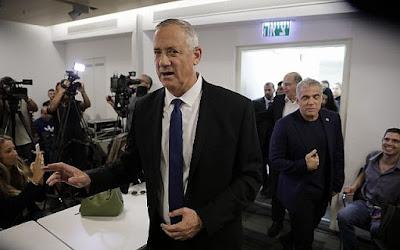 Gantz quer ser primeiro-ministro  de Israel num governo de união nacional