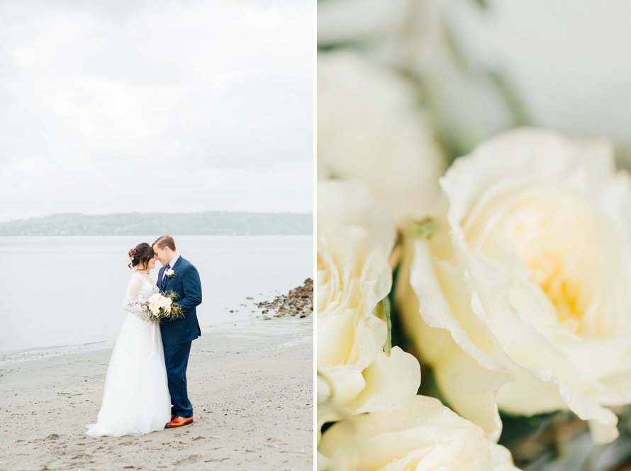 Romantic Rainy Day Elopement by Something Minted Photography, PNW Wedding Photographer