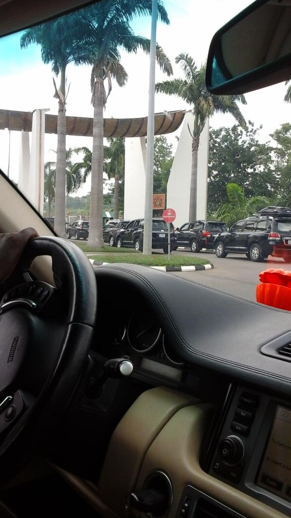 Checkout Buhari's Convoy to Aso Rock This Morning (Photo)