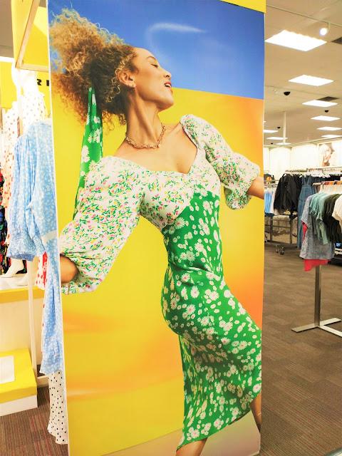 Colorful summer dresses at Target. Birmingham, Alabama. May 2021.