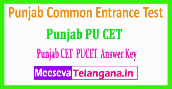 Punjab CET Answer Key PU CET Common Entrance Test Answer Key 2018 Download