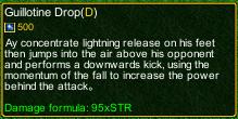 naruto castle defense 6.0 Guillotine Drop detail