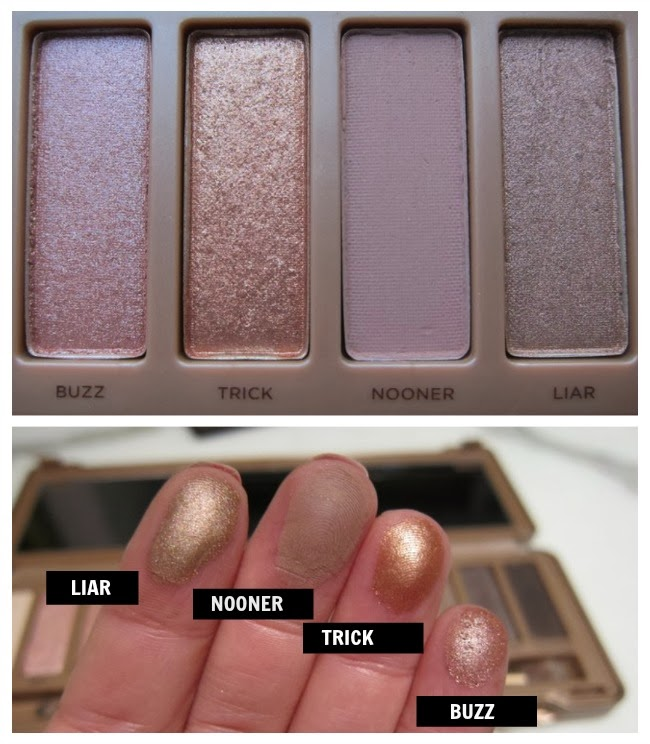 Naked 3 Urban Decay Swatches Buzz, Trick, Nooner, Liar