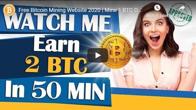 Free Bitcoin Mining Website 2020 | Mine 1 BTC Daily | How to make money online