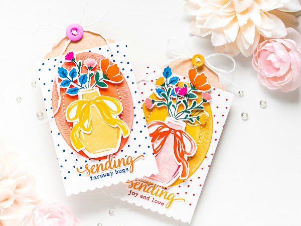 Sending Faraway Hugs - Pinkfresh Studio + The Stamp Market