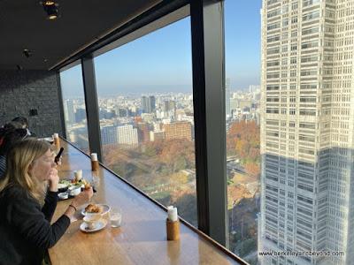 breakfast buffet with a view at Shinjuku Washington Hotel in Tokyo, Japan