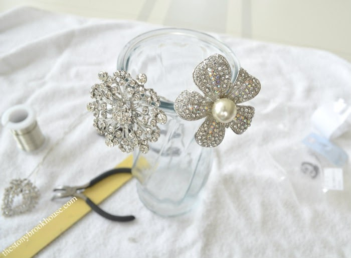 wired brooches for bouquet