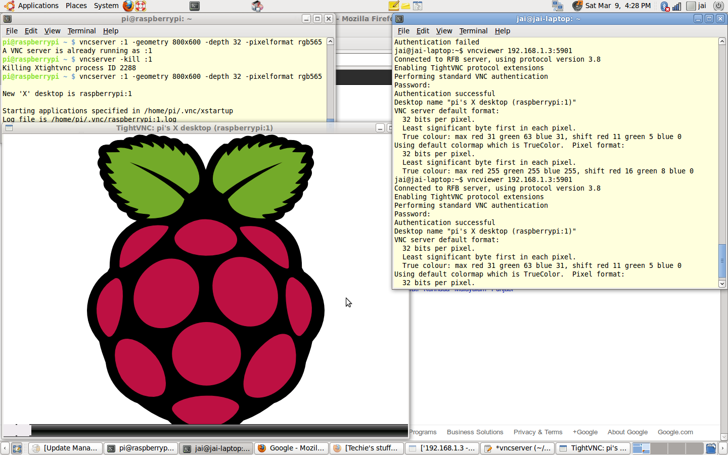 How I do what I do: Remote Desktop of Raspberry Pi onto