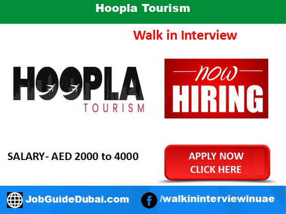 Hoopla Tourism career for Sales Executive jobs in Dubai UAE