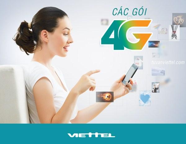 Cac goi cuoc 4G Viettel
