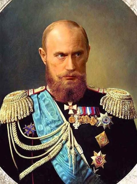 Putin um czar espúrio para desmoralizar a saudade da monarquia no povo russo