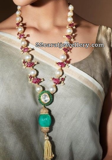 Parrot Long Chain with Rubies