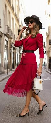 vestido rojo elegante