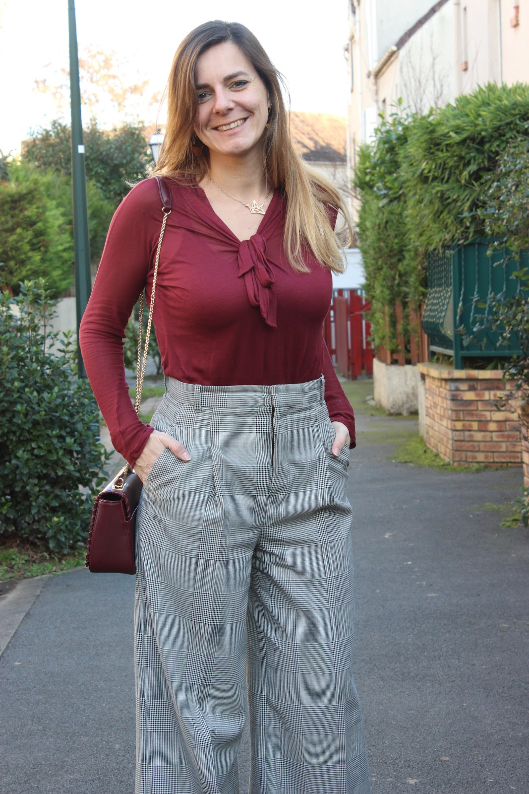 pantalon large Zara look du jour les petites bulles de ma vie