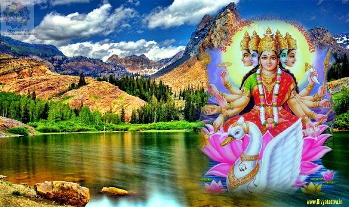 Gayatri Goddess 4K UHD Wallpaper Gayatri mata photos Devi wallpaper Hd images free download