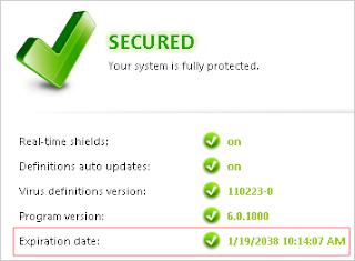 Download Avast! Pro Antivirus 6 + license key Expiry date ...