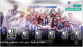 Download eFootball PES 2021 PPSSPP Special Juventus Best Grapics HD English Version & Full Update Transfer