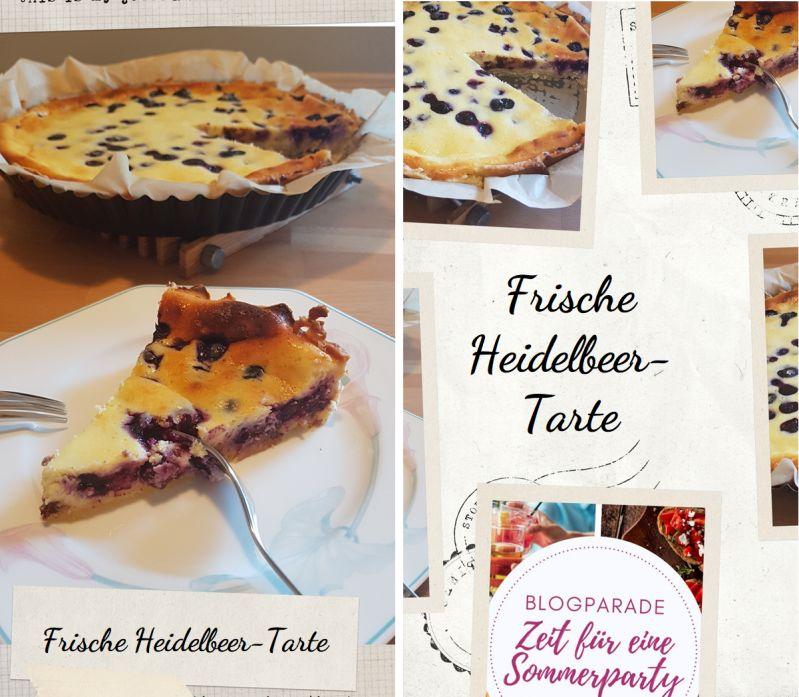 Rezept Heidelbeer-Tarte für Sommerparty