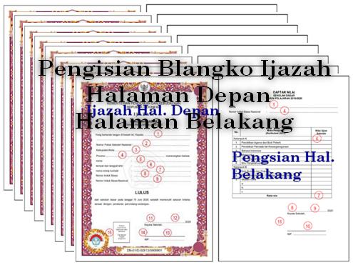 Petunjuk Khusus Pengisian Blangko Ijazah Halaman Depan Dan Belakang Tahun 2020