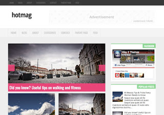 HotMag free Blogger Template
