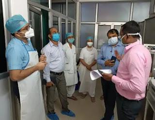 जालौन : कायाकल्प की टीमों ने किया जिला महिला व पुरुष अस्पताल का मूल्यांकन