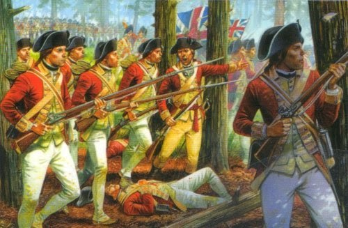 Painting American War of Independence British