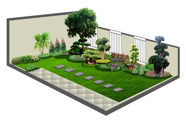Penataan halaman sempit rumah minimalis