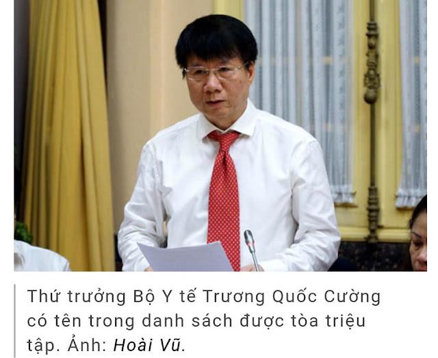 Ác như Thứ trưởng Bộ Y tế Trương Quốc Cường