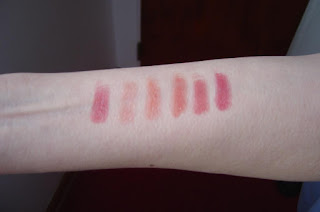 swatches of six Mineral Fusion Lip Butters.jpeg