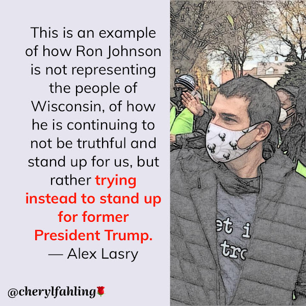 This is an example of how Ron Johnson is not representing the people of Wisconsin, of how he is continuing to not be truthful and stand up for us, but rather trying instead to stand up for former President Trump. — Alex Lasry, Milwaukee Bucks Senior Vice President