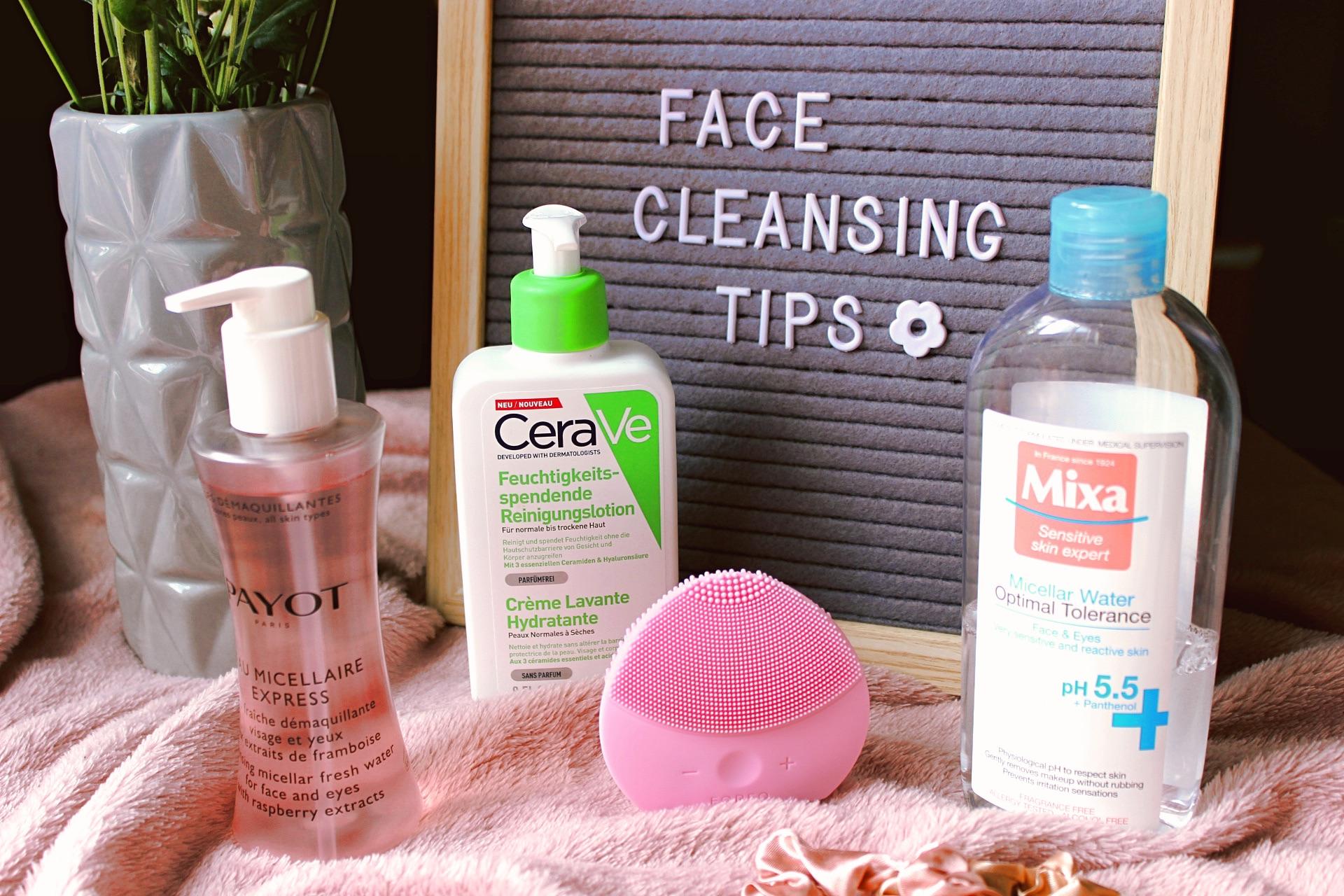 почистване на лицето съвети почистване на грим съвети мицеларна вода четка за лице