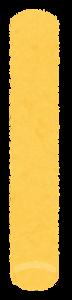 チョークのイラスト(黄色)