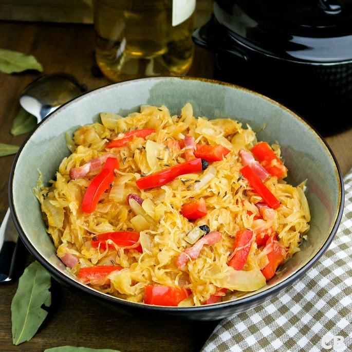 Recept Zuurkool op zijn Hongaars met paprika en spekjes