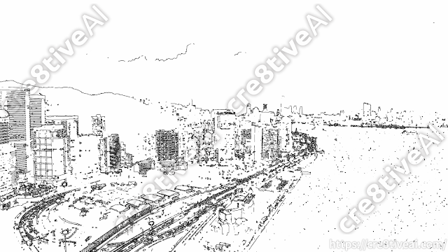 街並み_線画2
