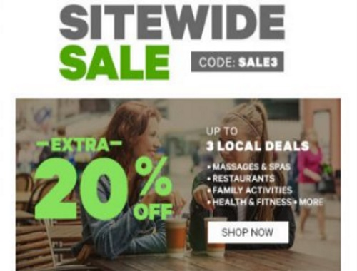 Groupon Sitewide Sale Extra 20% Off Promo Code