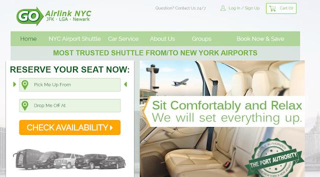 GoAirlinkNY Website Reservation