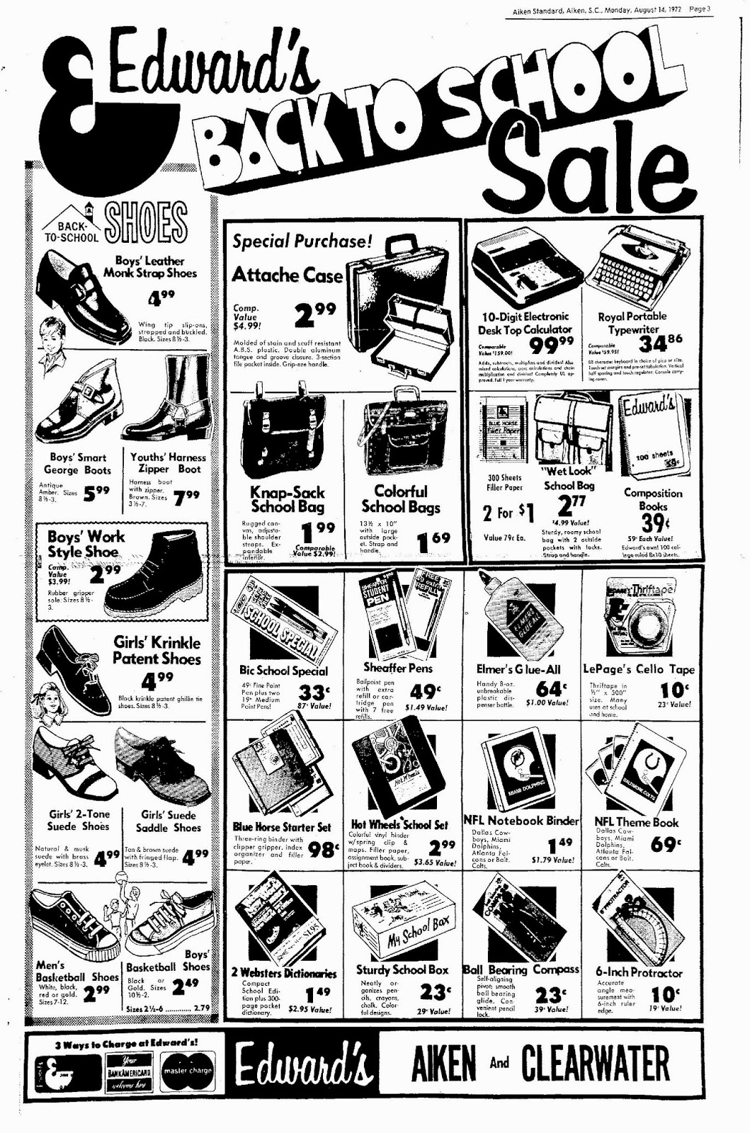 royal typewriters Sears Christmas Catalog 1987 according to the full page ad above from the aiken south carolina standard dated august 14 1972 the typewriter in the box was most likely a royal