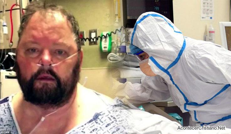 Hombre se recupera de coronavirus