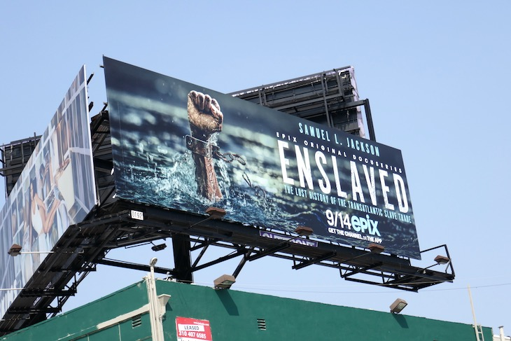 Enslaved docuseries billboard