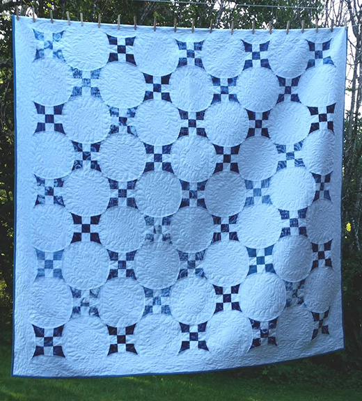 Improved 9-Patch Quilt Free Tutorial designed by Karin Vail of Cascade Quilts for Modabakeshop