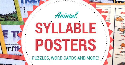 Syllable Rules Posters and a Freebie