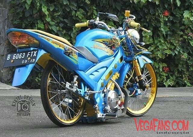 Foto Modifikasi Vixion Stroke Warna Biru