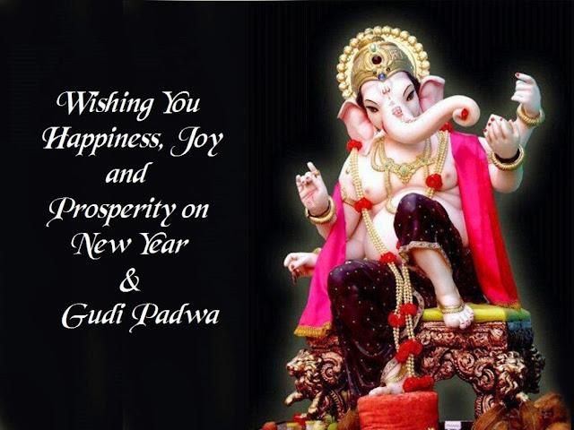 Happy Gudi Padwa Ganesh Ji Images