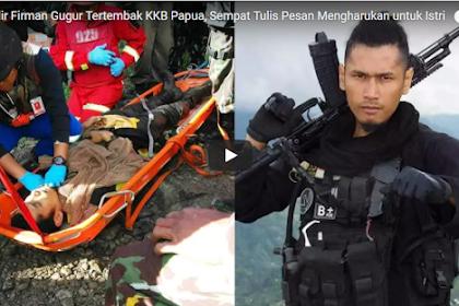 Brigadir Firman Gugur Tertembak KKB Papua, Sempat Tulis Pesan Mengharukan untuk Istrinya yang sedang Hamil