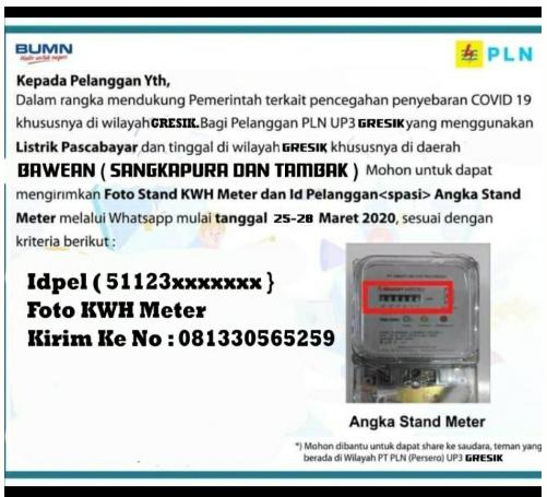 Nomor Whatsapp Admin PLN Bawean