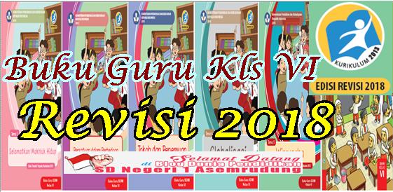 Buku Guru Kelas 6 SD/MI Kurikulum 2013 Revisi 2018