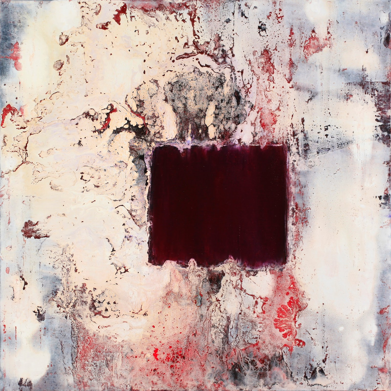 Image of the abstract painting entitled Parthian Shot by artist Martha Hope Carey