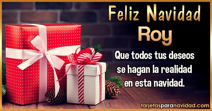 Feliz Navidad Roy