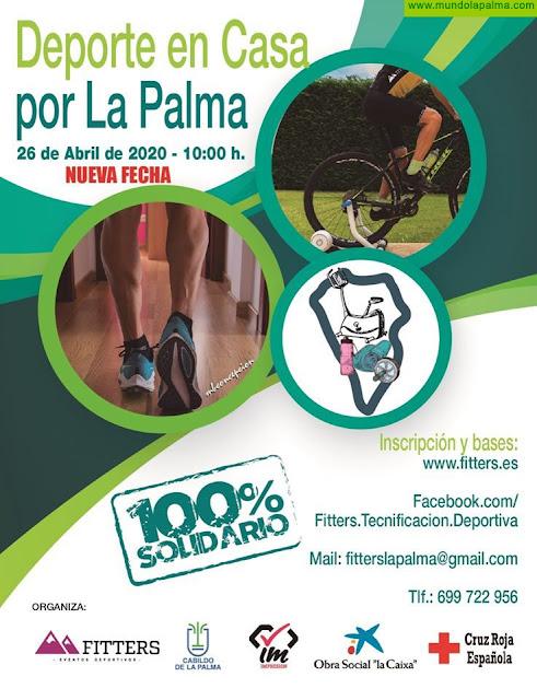El Cabildo y Fitters ponen en marcha el reto benéfico 'Deporte en casa por La Palma'